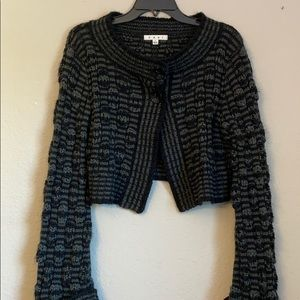 Cabi boho knit crop cardigan